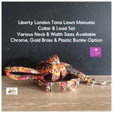 liberty london manuela tana lawn fabric collar and lead