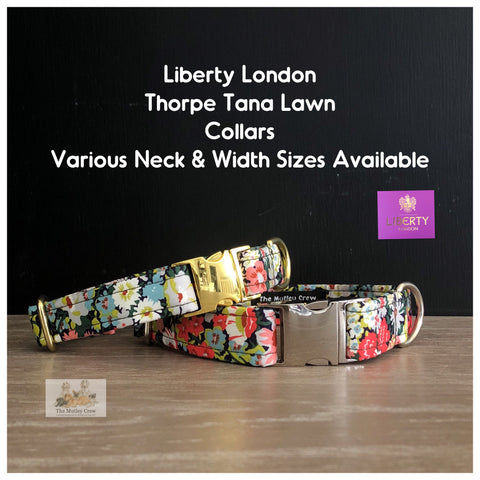 liberty london thorpe tana lawn fabric dog collar
