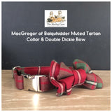MacGregor of Balquhidder Muted Authentic Pure Wool Scottish Tartan Dog Collars, Leads & Accessories