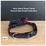Navy, Red & Green Tartan Dog Collars, Leads & Accessories