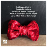 red velvet dog bowtie
