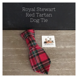 Royal Stewart Red Tartan Dog Neck Tie
