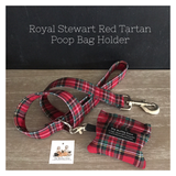 Royal Stewart Red Tartan Dog Lead & Poop bag holder
