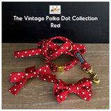 vintage polka dot red collection