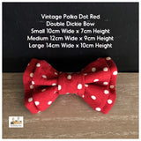 vintage polka dot red dog bowtiw