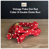 vintage polka dot red collar and bowtie