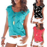 Feathered Casual Tunic Tee