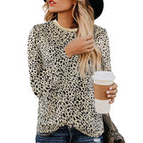 Leopard Casual Long Sleeve Top