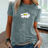 Let It Be Daisy Tee