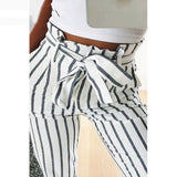 Tori High Tie Waist Belted Pants