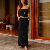 Strapless + Sleek Maxi Dress
