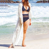 Long Lace Beach Coverup