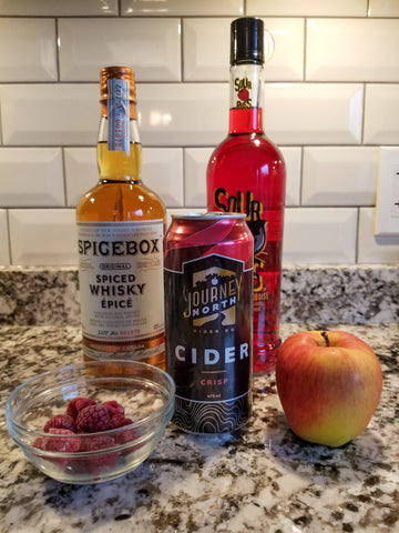 Berry Christmas cider martini from Journey North Cider