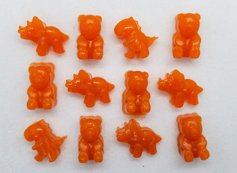 Gummy Bears made with fruit and veggie puree.