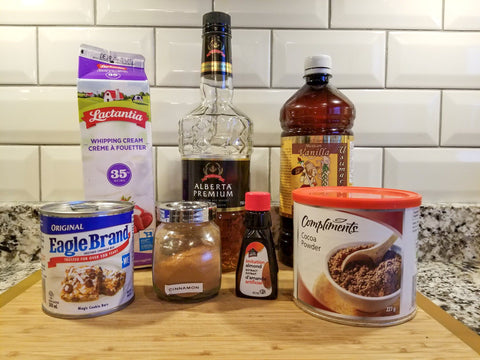 ingredients for homemade baileys