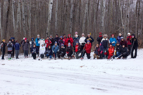 Participants in the first trail walk, October 2020