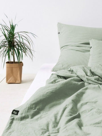 PURE COTTON Bedding Set_SAGE GREEN