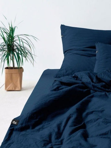 PURE COTTON Bedding Set_OBSIDIAN BLUE