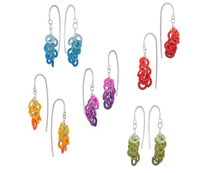 Circles hook earrings - clusters