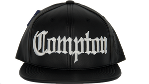 Leather Old English Compton Snapback