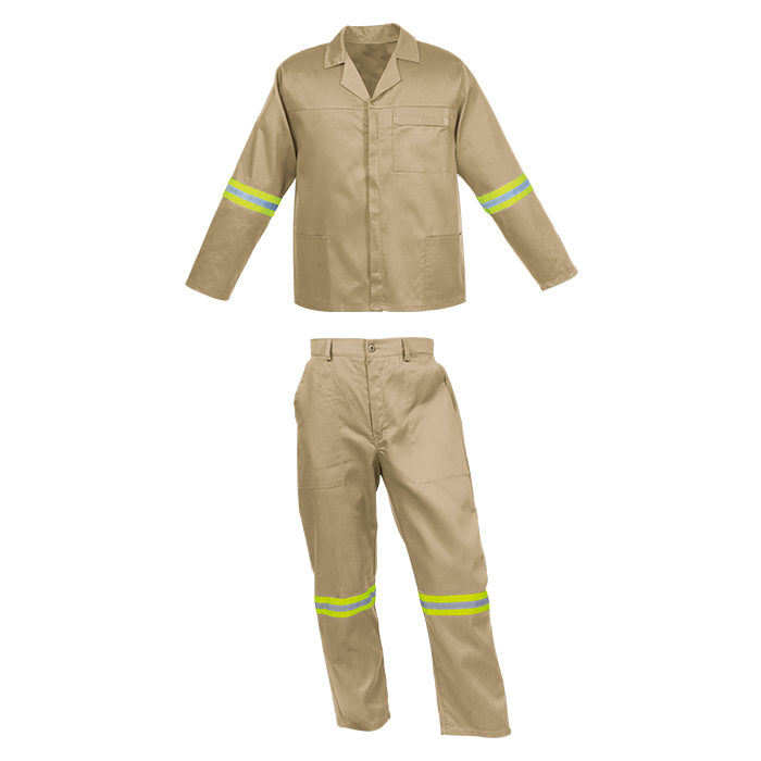 210g Poly Cotton Conti Suit c/w Reflectives