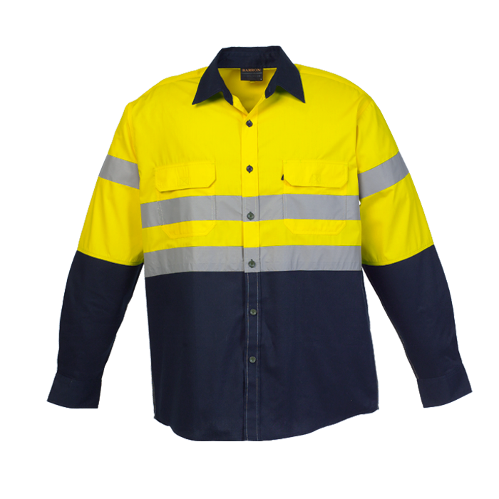 Two Tone Shaft Safety Shirt - Long Sleeve