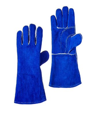 Blue Lined Welding Wrist Glove