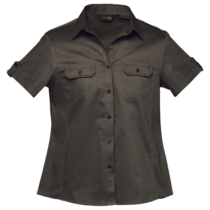 Ladies Plain Short Sleeve Bush Shirts
