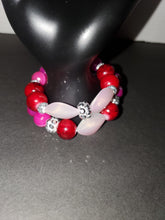 Load image into Gallery viewer, Fading red stack (2) bracelet set