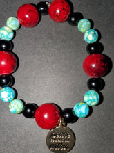 Load image into Gallery viewer, Semiprecious jasper stone bracelet