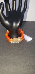 Sun kissed semiprecious stone Bracelet