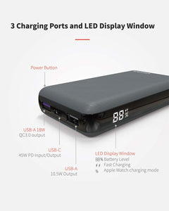 45W Power Bank Air Fast Charging for Laptops and Devices
