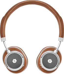 Master & Dynamic MW50 On Ear Headphones Silver/Brown