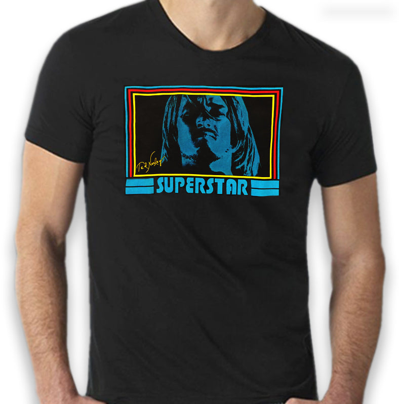 New Superstar 70's Groovy Vintage Black Tee