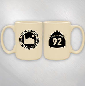 JASON NEWSTED AND THE CHOPHOUSE BAND - CREAM LOGO MUG