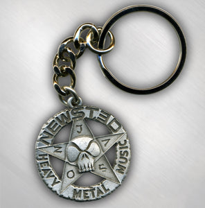 JASON NEWSTED - STAR LOGO PEWTER KEYCHAIN