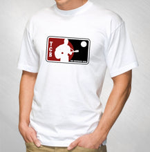 Load image into Gallery viewer, JASON NEWSTED AND THE CHOPHOUSE BAND - MEN'S WHITE MLB LOGO TEE