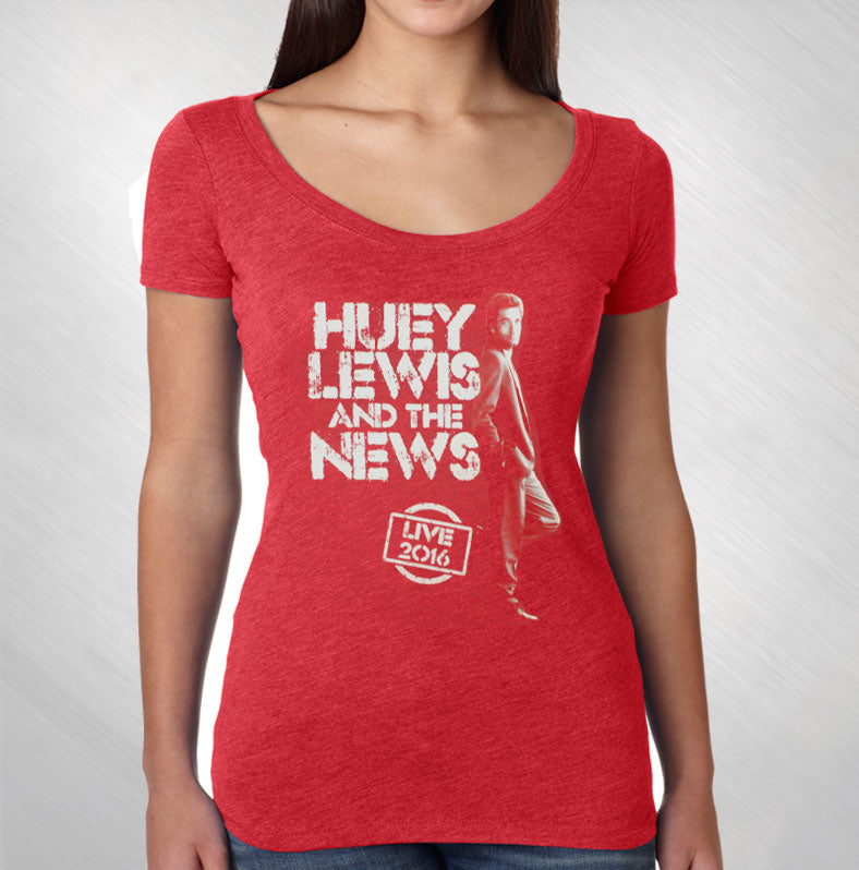 Women's Red 2016 Standing Photo Tee