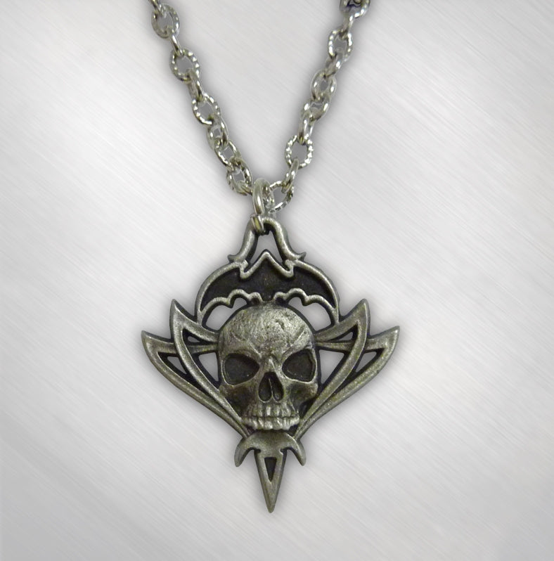 Tribal Logo Pewter Necklace- Womens