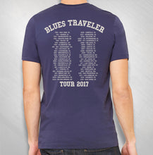 Load image into Gallery viewer, BLUES TRAVELER - MEN'S CIRCLE LOGO 2017 TOUR TEE