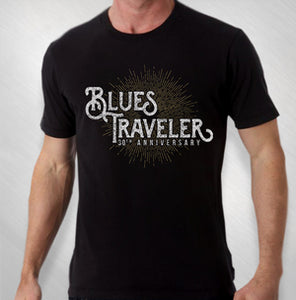 BLUES TRAVELER - 2017 MEN'S 30TH ANNIVERSARY STARBURST TOUR TEE