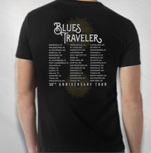 Load image into Gallery viewer, BLUES TRAVELER - 2017 MEN'S 30TH ANNIVERSARY STARBURST TOUR TEE