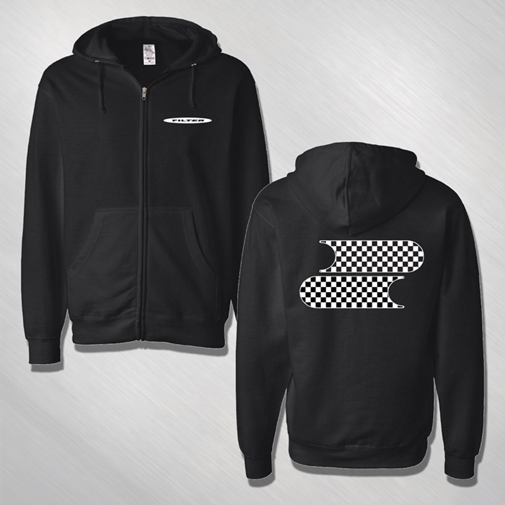 Filter Checkered Logo Hoodie