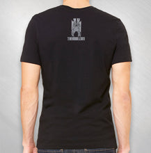 "Load image into Gallery viewer, Black ""Music of Zebra"" Symphony Tee"