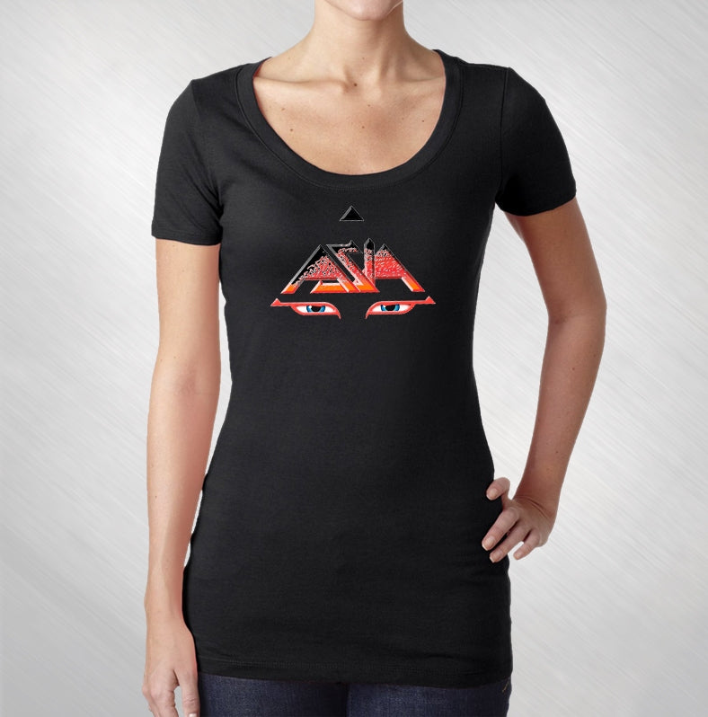 Women's Black Eyes Scoop Neck Tee