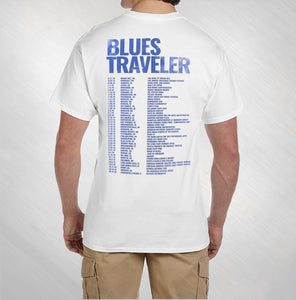 2016 Men's White Blue Moon Tour Tee