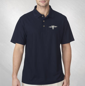 Men's Embroidered Logo Polo