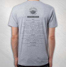 Load image into Gallery viewer, 2015 Grey Golden Gate Stamp Tour Tee