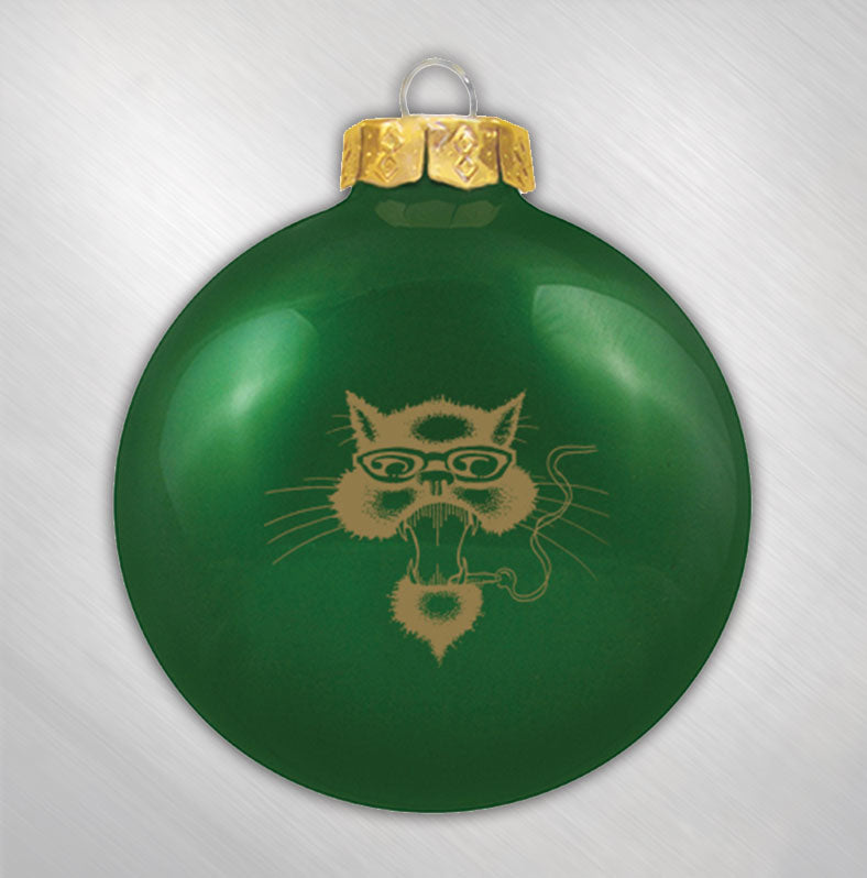 Green Cat Ornament