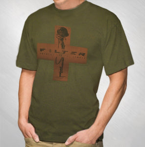 Men's Green Red Cross Tee